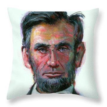 Modern Abe Throw Pillow