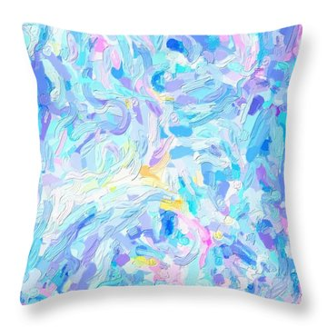 Modern Abstract Color Combination No 2 Throw Pillow