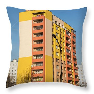 Throw Pillow featuring the photograph Modern Apartment Buildings by Juli Scalzi