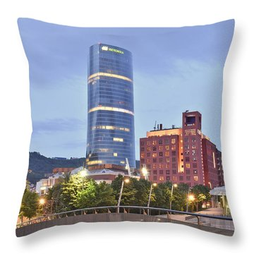 Modern Architecture Bilbao Spain Throw Pillow by Marek Stepan