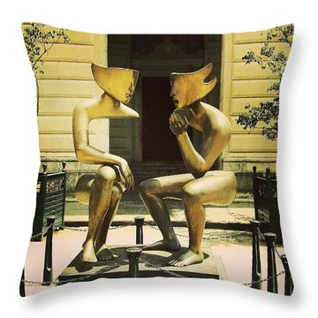Modern Art In Old Havana Throw Pillow