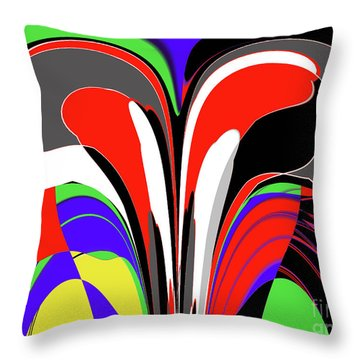 Modern Art Throw Pillow by Methune Hively