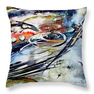 Modern Art Travel Log 05 Dec 9 2017 Throw Pillow