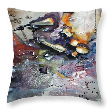 Modern Art Travel Log 03 Dec 7 2017 Throw Pillow