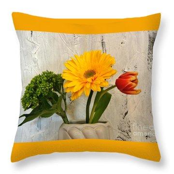 Throw Pillow featuring the photograph Modern Bouquet by Marsha Heiken