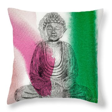 Modern Buddha Throw Pillow