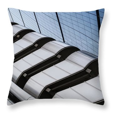 Lloyds Building Bank In London Throw Pillow