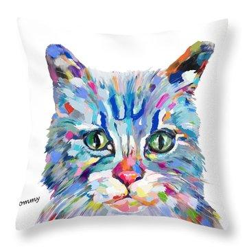 Modern Cat Throw Pillow