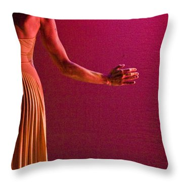 Throw Pillow featuring the photograph Modern Dance 17 by Catherine Sobredo