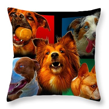Modern Dog Art - 0001 Throw Pillow