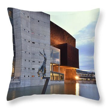 Modern Euskalduna Center Bilbao Throw Pillow by Marek Stepan