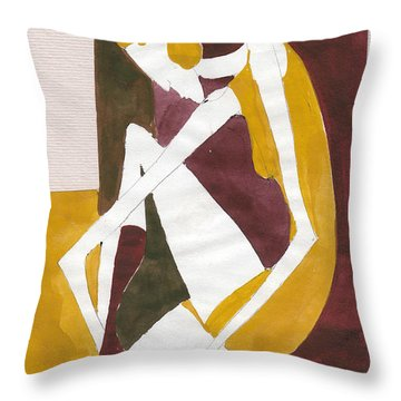 Modern Greek Goddess Throw Pillow