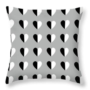 Modern Hearts- Art By Linda Woods Throw Pillow