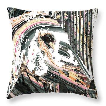 Modern Horse Art By Sharon Cummings Throw Pillow