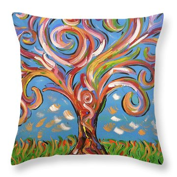 Modern Impasto Expressionist Painting  Throw Pillow by Gioia Albano