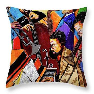 Modern Jazz Quintet Side B Throw Pillow