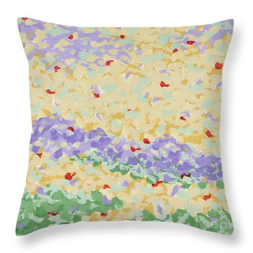 Modern Landscape Painting 4 Throw Pillow