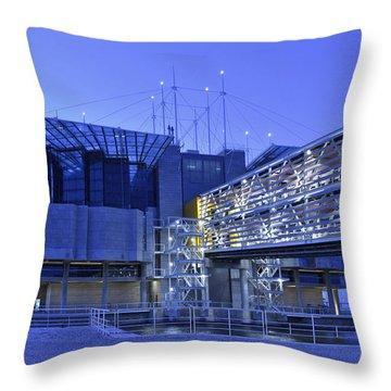 Throw Pillow featuring the photograph Modern Lisbon Aquarium by Marek Stepan