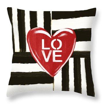 Modern Love- Art By Linda Woods Throw Pillow