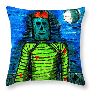 Modern Prometheus Throw Pillow