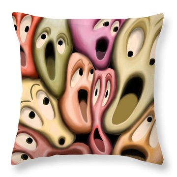 Modern Public Transport Throw Pillow