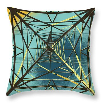 Modern Pyramid Throw Pillow