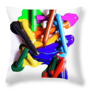 Modern Rainbow Art Throw Pillow