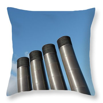 Modern Restaurant Chimneys Throw Pillow by Gaspar Avila