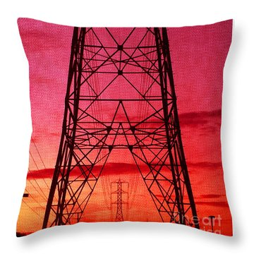 Modern Sunset Throw Pillow