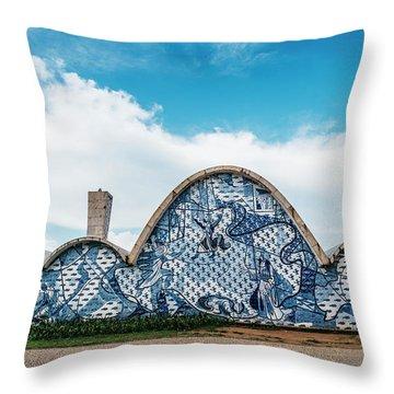 Modernist Church Of Sao Francisco De Assis In Belo Horizonte, Brazil Throw Pillow