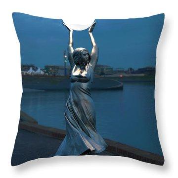 Modernist Streetlight 04 Throw Pillow