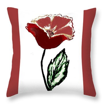 Modernized Flower Throw Pillow by Marsha Heiken