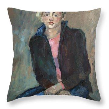 Modest Beauty Throw Pillow