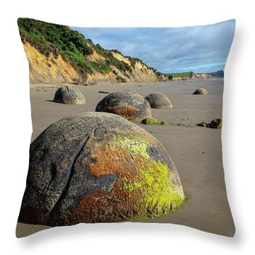 Moeraki Boulders Throw Pillow