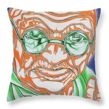 Throw Pillow featuring the photograph Mohandas Karamchand Gandhi  by Juergen Weiss