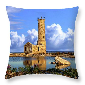 Mohawk Island Lighthouse Throw Pillow