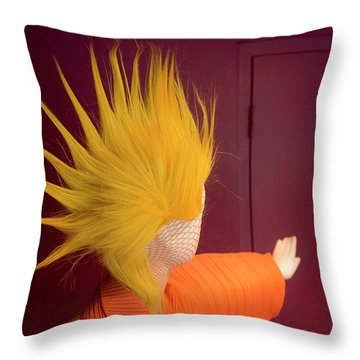 Mohawk Throw Pillow by Scott Meyer