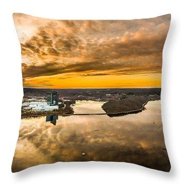 Mohegan Sun Sunset Throw Pillow by Petr Hejl