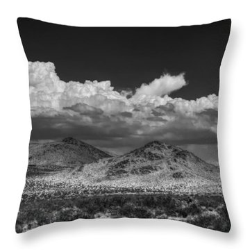 Throw Pillow featuring the photograph Mojave 020 Bw by Lance Vaughn