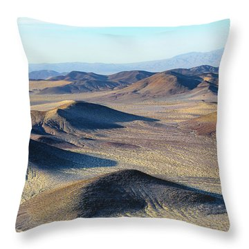 Throw Pillow featuring the photograph Mojave Desert by Jim Thompson