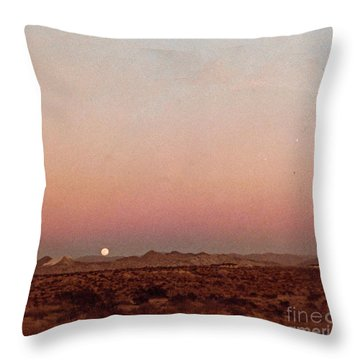 Mojave Sunset Throw Pillow by Walter Chamberlain