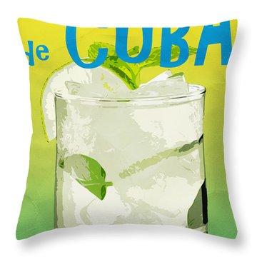 Mojito De Cuba Coconut Club Throw Pillow