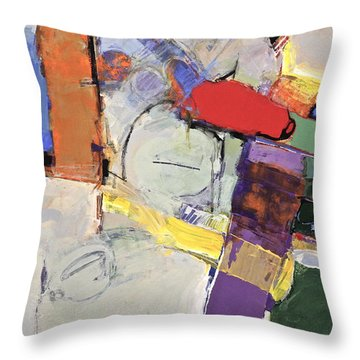 Throw Pillow featuring the painting Mojo Rizen Via La Woman by Cliff Spohn