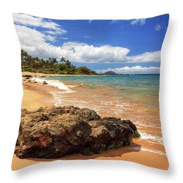 Mokapu Beach Maui Throw Pillow by James Eddy
