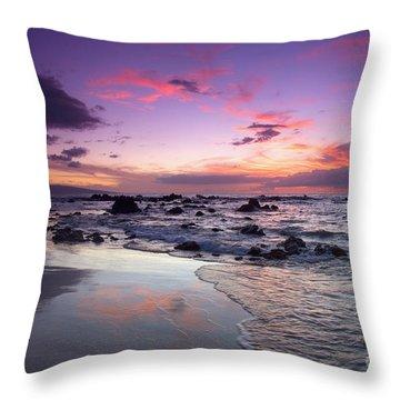 Mokapu Beach Sunset Throw Pillow by Ron Dahlquist - Printscapes
