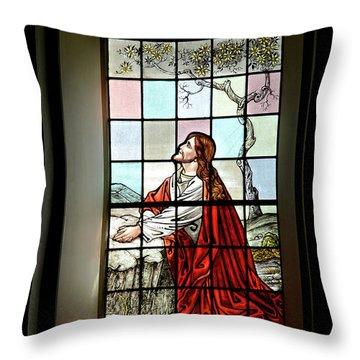 Mokuaikaua Church Stained Glass Window Throw Pillow