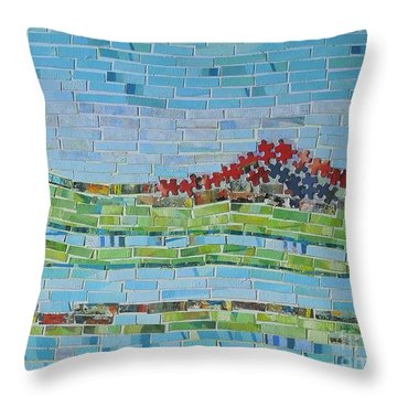 Mole Hill Reborn Throw Pillow by Judith Espinoza