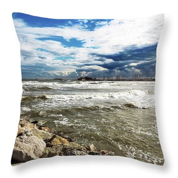 Mole Stones  In Rimini Throw Pillow