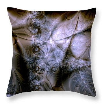 Molecular Cacao Throw Pillow