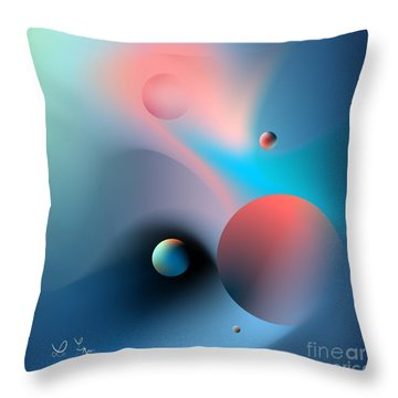 Molecularly Throw Pillow by Leo Symon